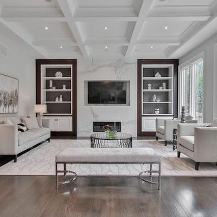 Living room interior design in a comfortable way