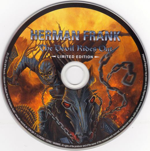 HERMAN FRANK - The Devil Rides Out [Limited Digipak +1] (2016) disc