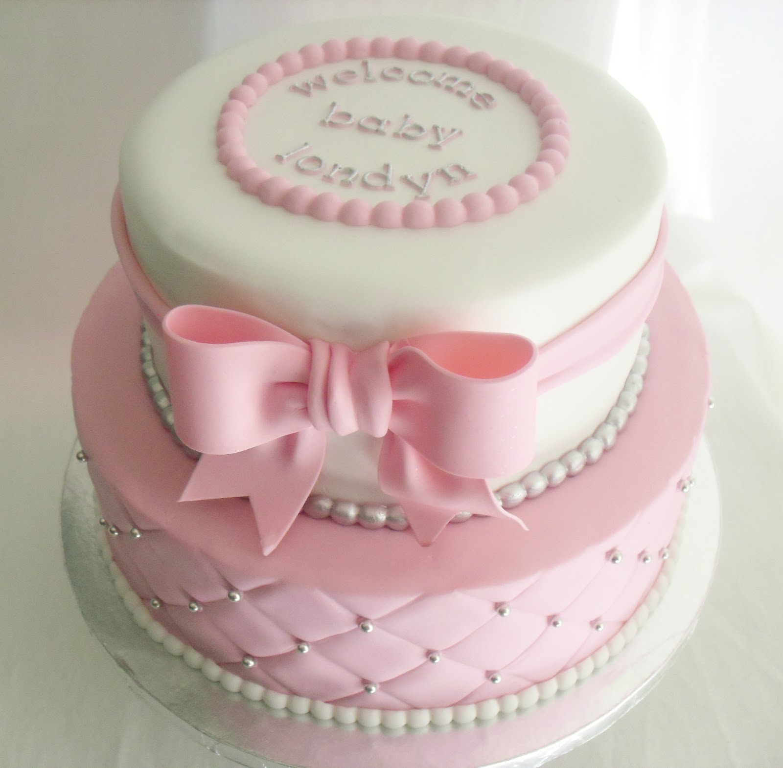 Pink Brown Baby Shower Cake Pictures
