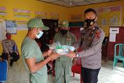 Sat Binmas Polres Tebo Berikan Sarana Kontak Kepada Linmas Desa Aburan Batang Tebo