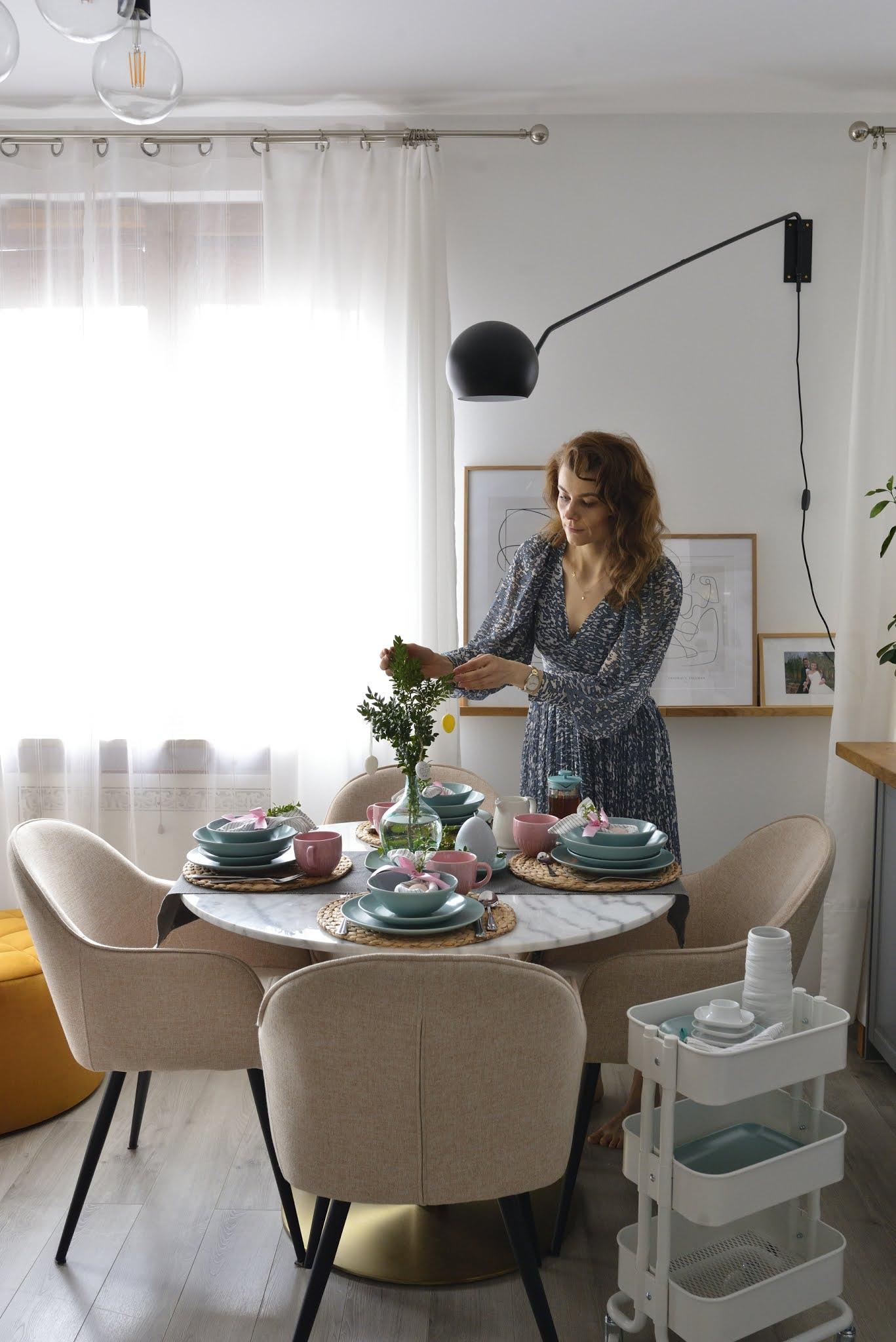 stół, wielkanoc, dekoracje