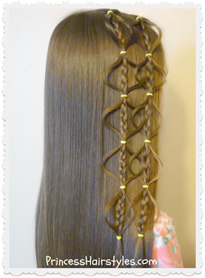 Easy video hair tutorial. Interlocking bubble braid.
