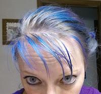 Artic Fox Poisedon blue over Purple Rain hair dye