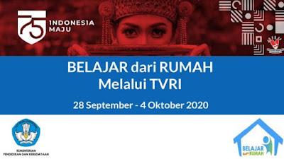 Jadwal Dan Panduan BDR Minggu Ke 25 Tanggal 28 September - 4 Oktober Tahun 2020