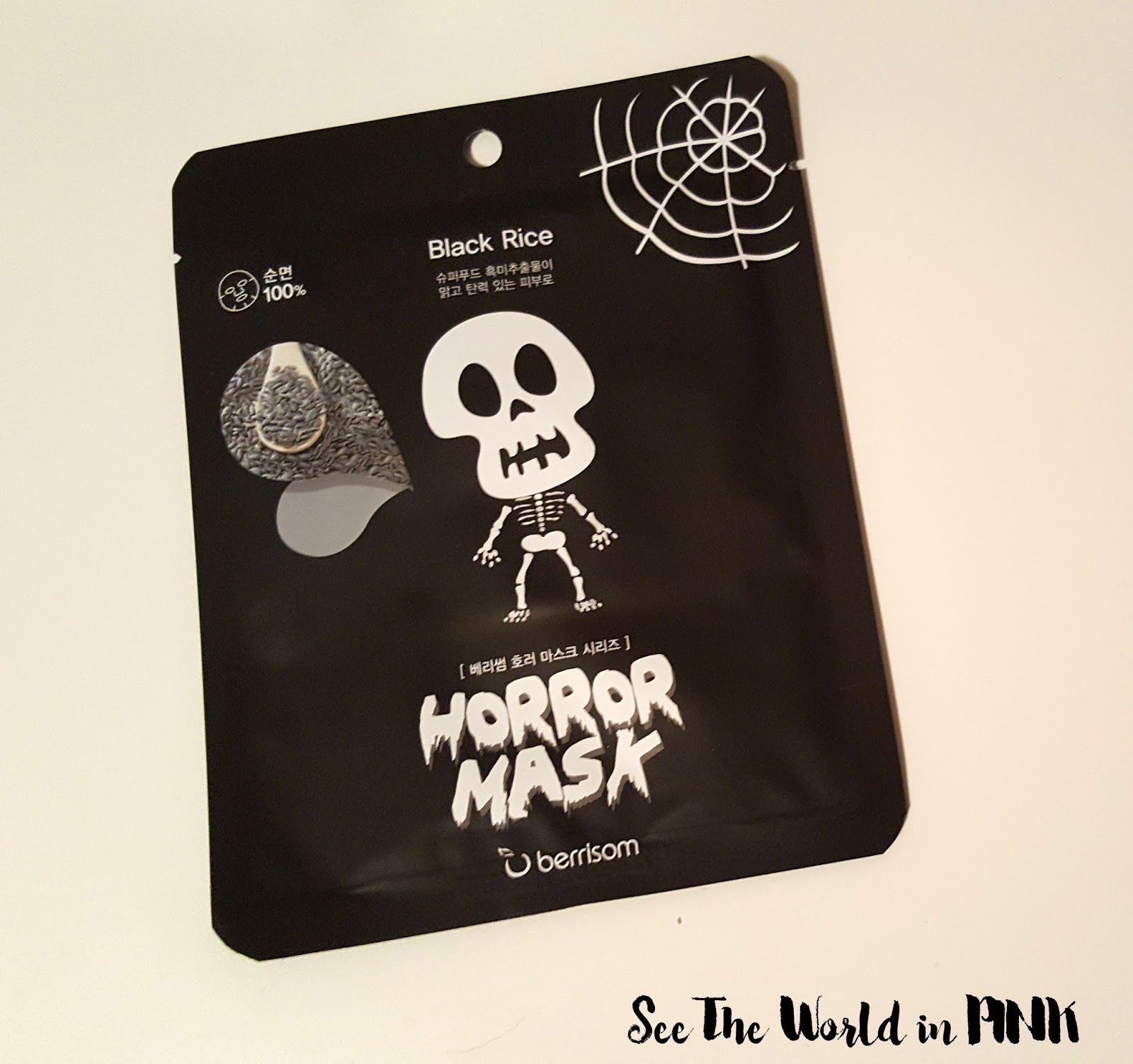 "Halloween Skincare Sunday - Berrisom Horror Mask ""Skull"""