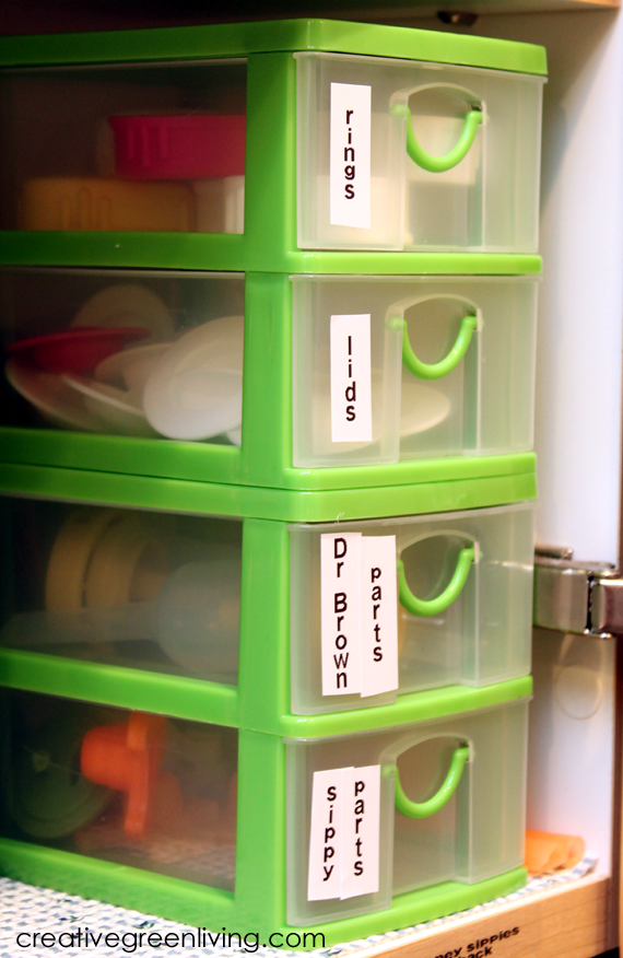 How To Organize Sippy Cups And Baby Bottles Creative