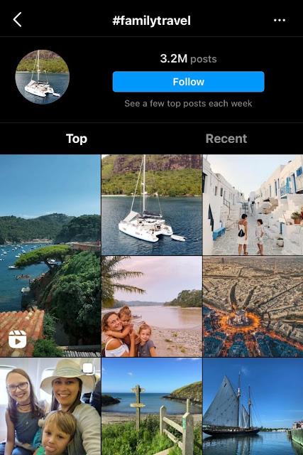 Family travel hashtags for Instagram