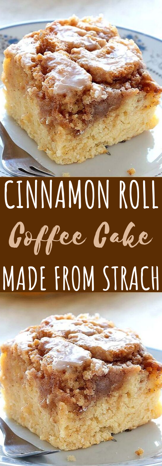 Easy Cinnamon Roll Coffee Cake #desserts #cake
