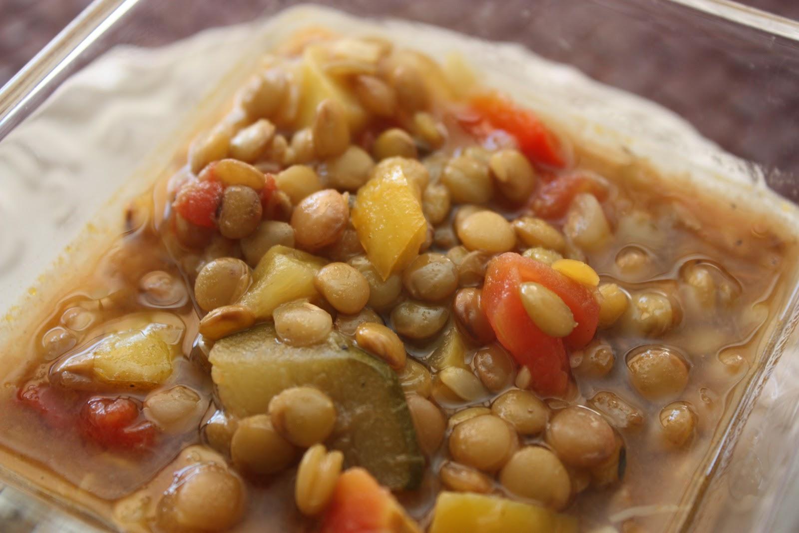 A delicious vegan lentil soup