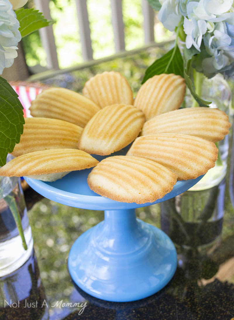 Easy Patriotic Ideas For Summer Entertaining; madeleines are a sweet and easy dessert idea