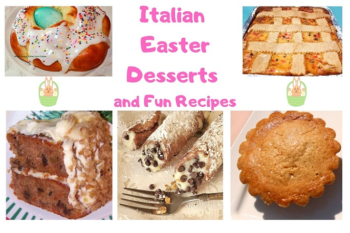 this is a collage of Easter desserts Italian style