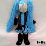 patron gratis muñeca hatsune miku amigurumi