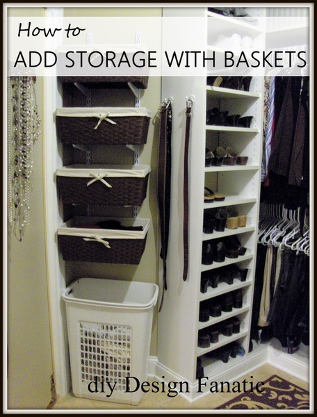 storage space, closet, add storage space to closet, mountain cottage, simple project
