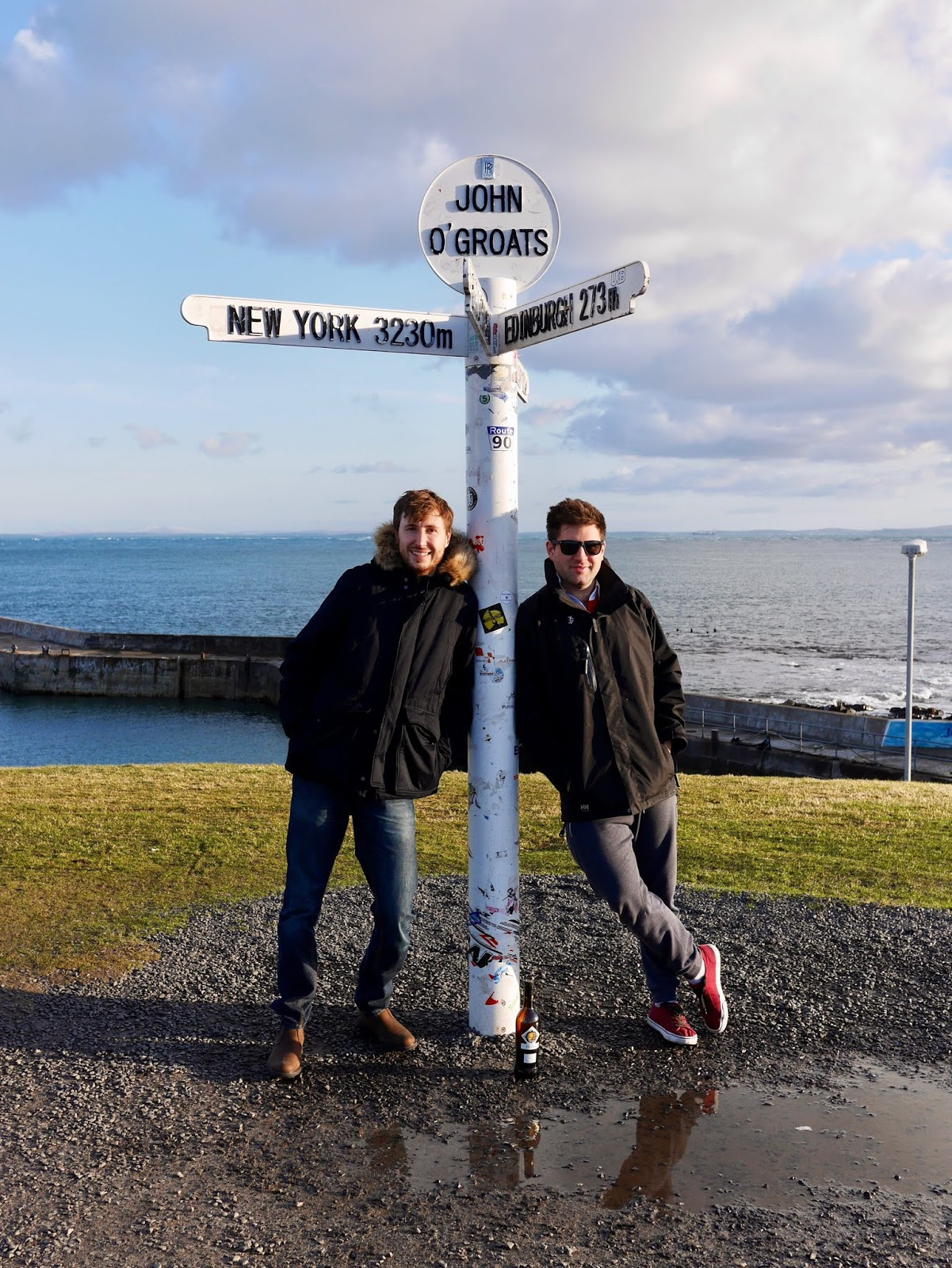 Standing at the sign of John o'Groats, A trip to Orkney by www.CalMcTravels.com, Orkney, Whisky, Beer, Gin