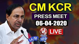 COVID 19 updates, CM KCR press meet LIve Lockdown Telangana,corona outbreak