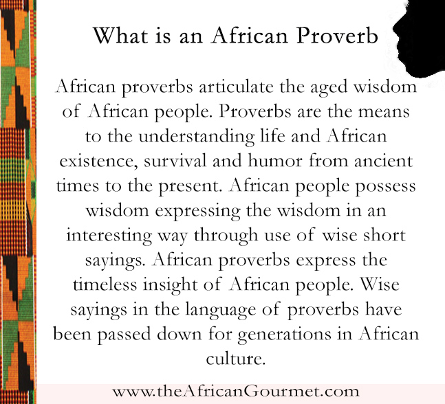 What is an African Proverb