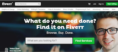 onling earning at Fiverr