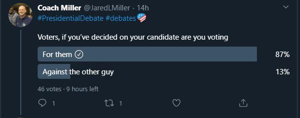 Twitter poll Presidential debate 5