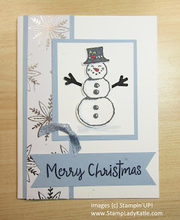 Winter card made with Stampin'UP!'s Snowman Season stamp set and Snowman Builder punch
