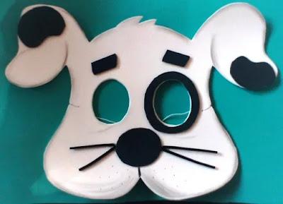 máscara de perro en foami
