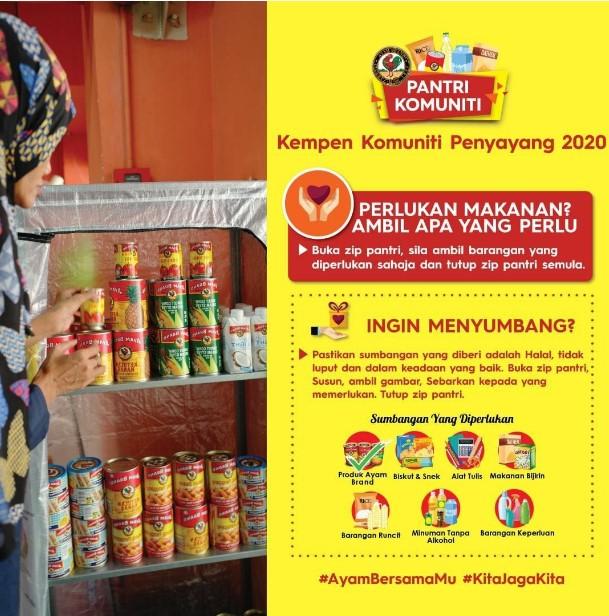 projek komuniti, ayambrand, kita jaga kita, bantuan makanan