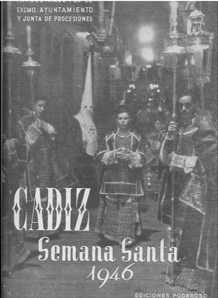 """Fotos antiguas de la Semana Santa de Cadiz. Suena la marcha """"Nazareno del Amor""""."""
