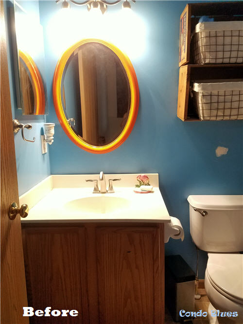 builder small condo bathroom remodel before