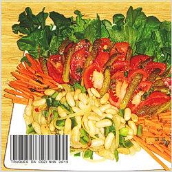 Salada grega com feijão branco