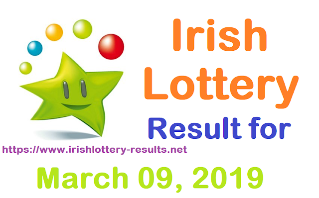 Irish Lottery Results for Saturday, 09 March 2019