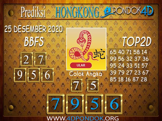 Prediksi Togel HONGKONG PONDOK4D 25 DESEMBER 2020