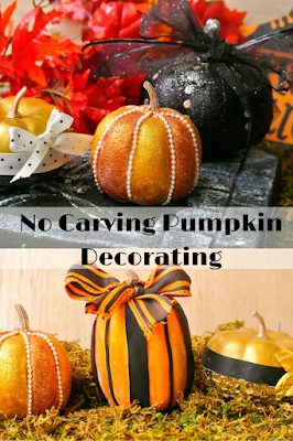 No Carving Pumpkin Decorating