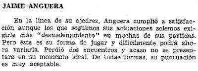 Suplemento del Diario de Las Palmas, 12/10/1974, noticia sobre Jaume Anguera