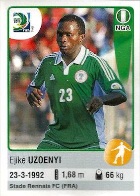 Panini 225 Juwon Oshaniwa Nigeria Confed Cup 2013 Brasilien