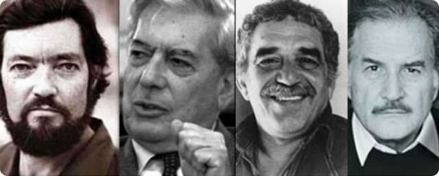 Cortázar, Borges, García Márquez y Carlos Fuentes