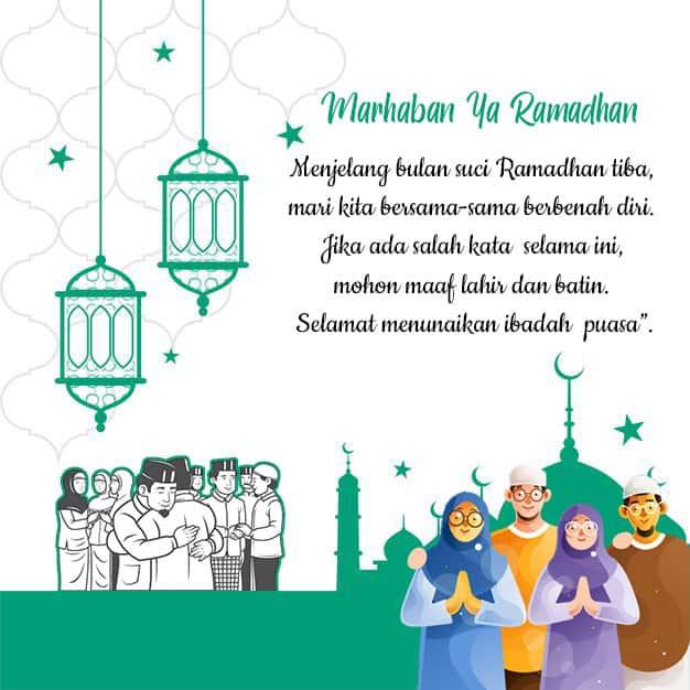 ucapan maaf menjelang puasa ramadhan 2021