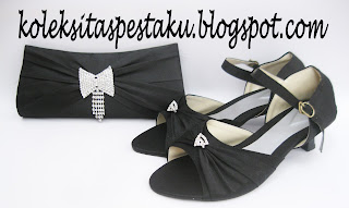 Sepatu Pesta Mewah dan Tas Pesta Clutch Bag Cocok Buat Acara Pernikahan