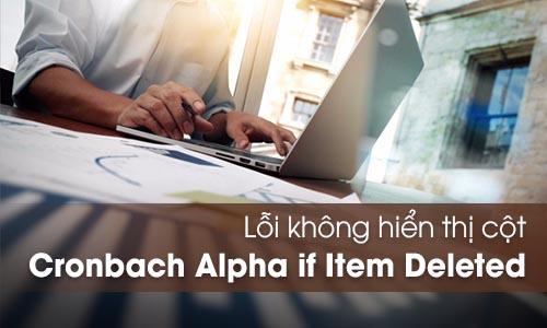 Lỗi không hiển thị cột Cronbach's Alpha if Item Deleted