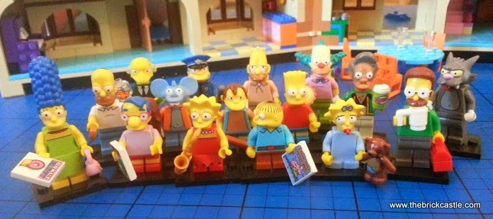 LEGO Simpsons complete collection all minifigures from blind bags