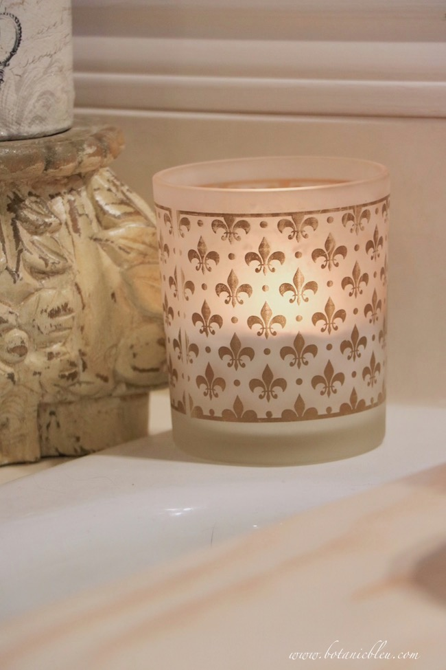 add French Country style with fleur de lis