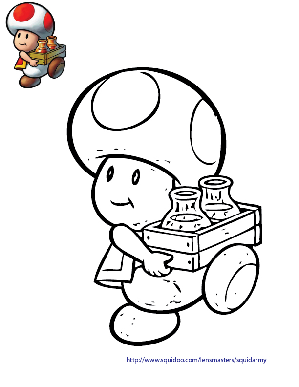 Toad Mario Coloring Pages Coloring Pages