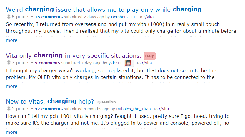 PS Vita Roundup: Tech supprt - Vita charging issues