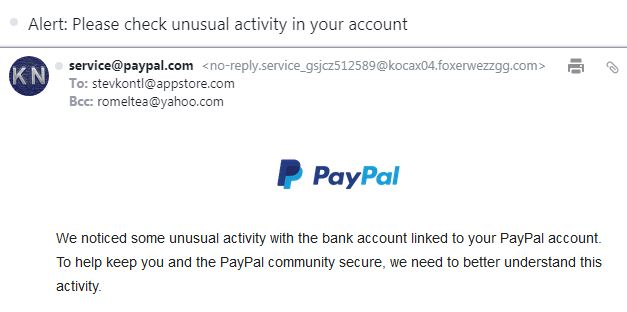 email penipuan paypal