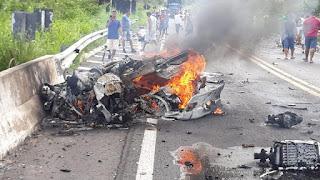 Acidente no interior do Piauí deixa dois mortos durante disputa de racha, corpos ficaram despedaçados