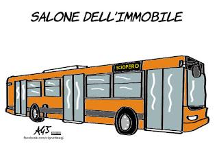 ATM, sciopero, salone del mobile, Milano, vignetta , satira