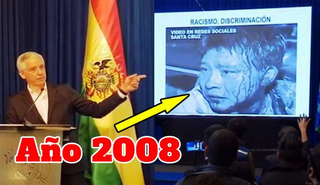 García Linera acusa a Carlos Mesa con video del año 2008