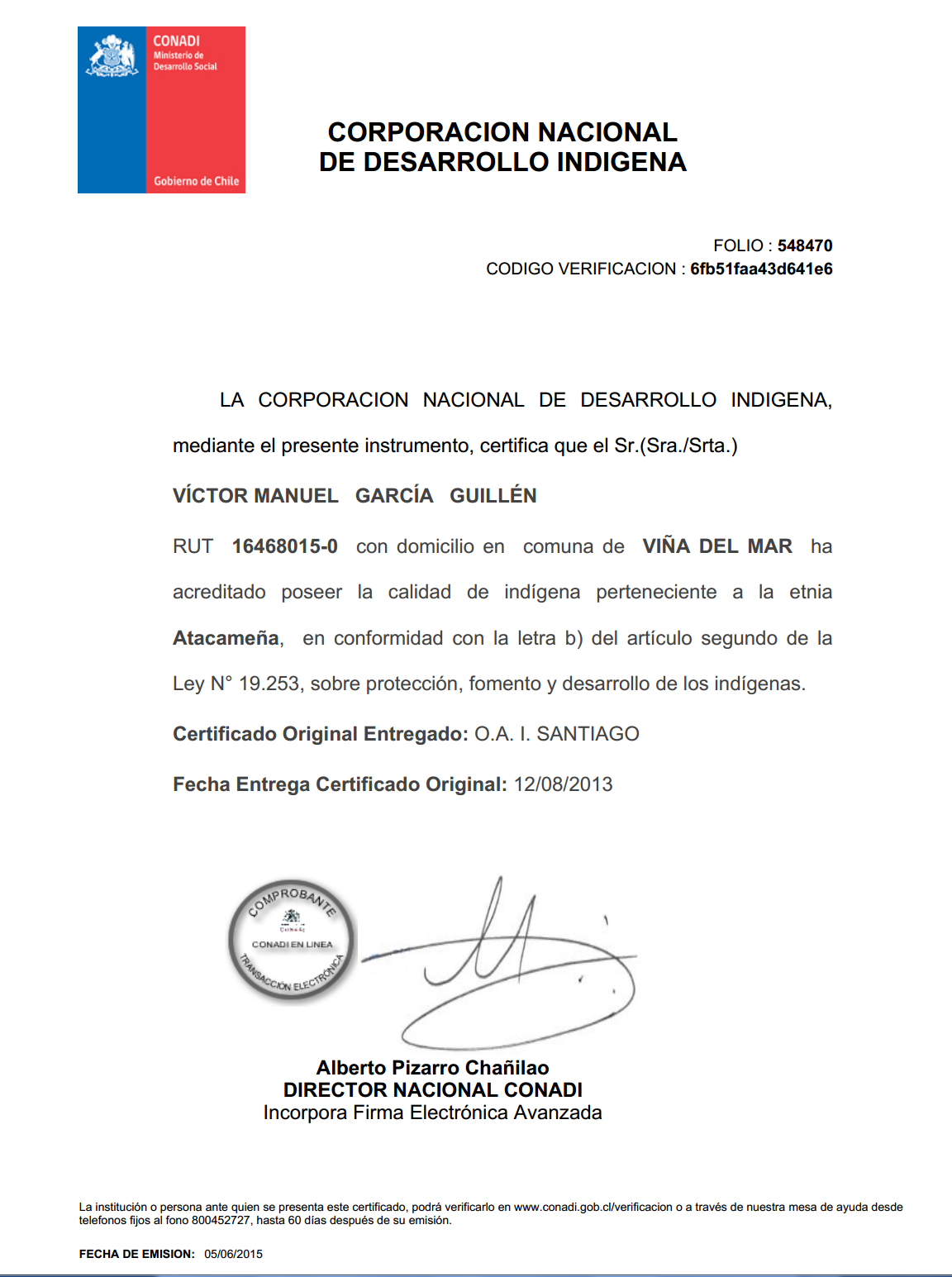 Victor Doblege: Curriculum Vitae Victor Doblege