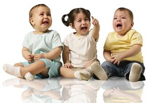 Kids crying