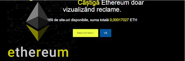 adETH - Câștigă Ethereum doar vizualizând reclame.