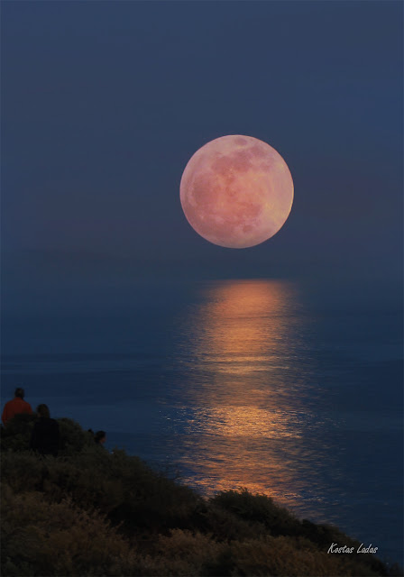 full moon 2013 -cape Sounio-Kostas Ladas photography