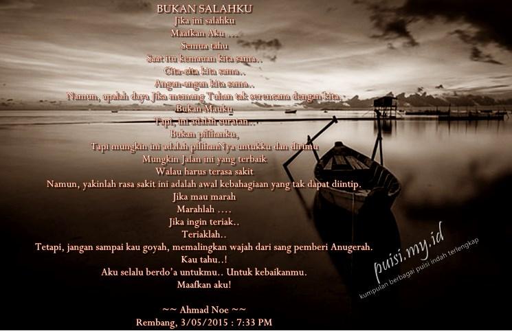 Puisi cinta terindah karya ahmad noe